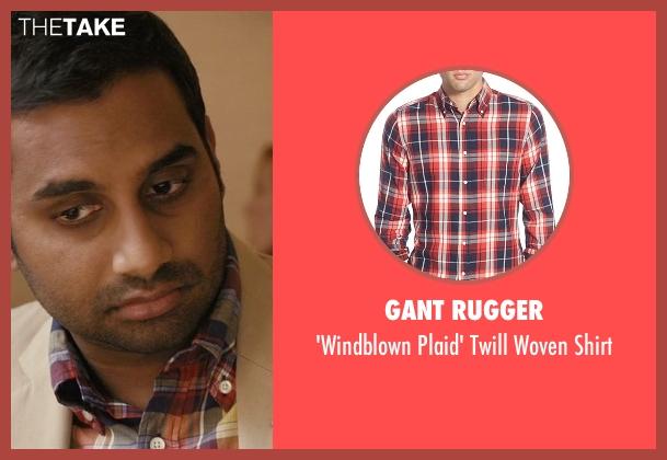 Gant Rugger shirt from Master of None seen with Dev (Aziz Ansari)