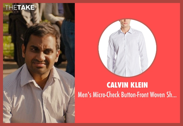 Calvin Klein white shirt from Master of None seen with Dev (Aziz Ansari)