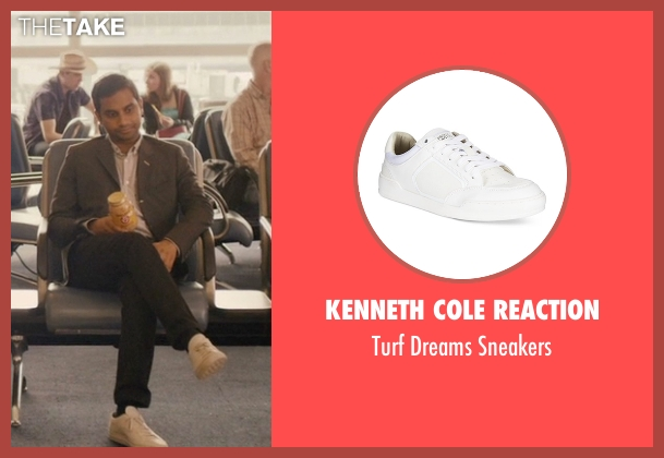 Kenneth Cole Reaction white sneakers from Master of None seen with Dev (Aziz Ansari)