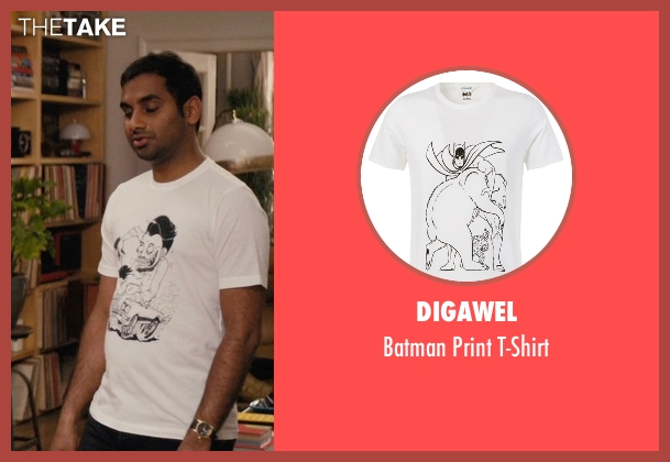Digawel white t-shirt from Master of None seen with Dev (Aziz Ansari)