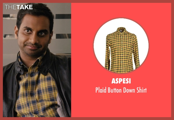 Aspesi yellow shirt from Master of None seen with Dev (Aziz Ansari)