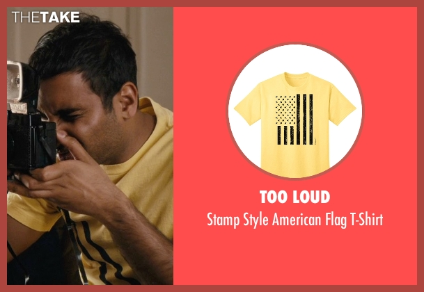 Too Loud yellow t-shirt from Master of None seen with Dev (Aziz Ansari)