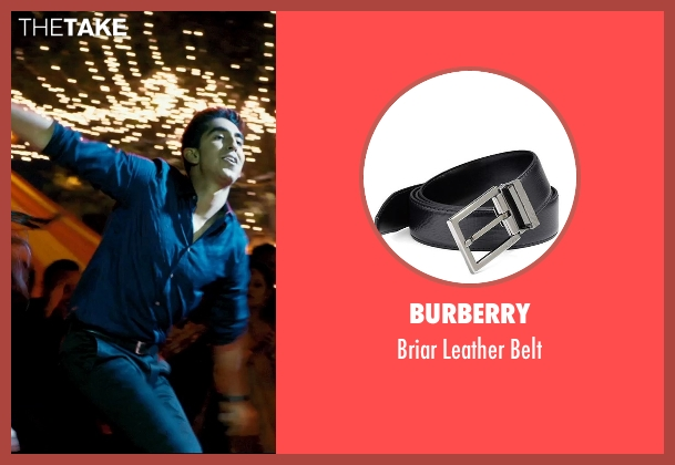 Burberry black belt from The Second Best Exotic Marigold Hotel seen with Dev Patel (Sonny Kapoor)