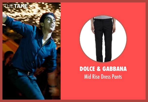 Dolce & Gabbana black pants from The Second Best Exotic Marigold Hotel seen with Dev Patel (Sonny Kapoor)