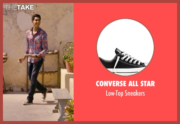 Converse All Star black sneakers from The Second Best Exotic Marigold Hotel seen with Dev Patel (Sonny Kapoor)