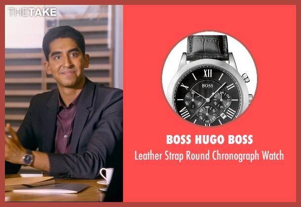 Boss Hugo Boss black watch from The Second Best Exotic Marigold Hotel seen with Dev Patel (Sonny Kapoor)