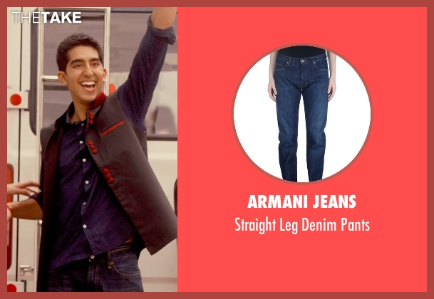 Armani Jeans blue pants from The Second Best Exotic Marigold Hotel seen with Dev Patel (Sonny Kapoor)
