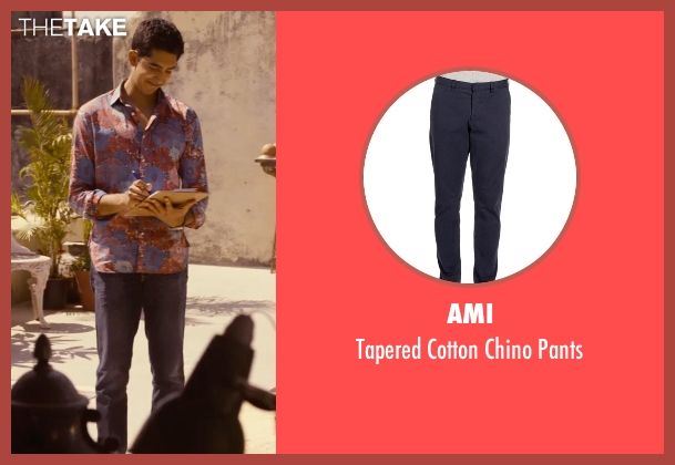 Ami blue pants from The Second Best Exotic Marigold Hotel seen with Dev Patel (Sonny Kapoor)
