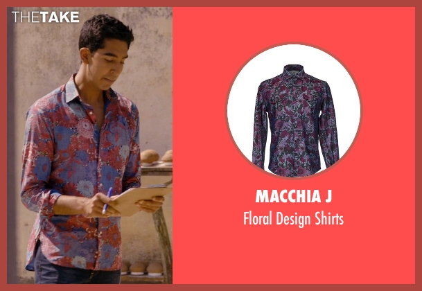 Macchia J red shirts from The Second Best Exotic Marigold Hotel seen with Dev Patel (Sonny Kapoor)