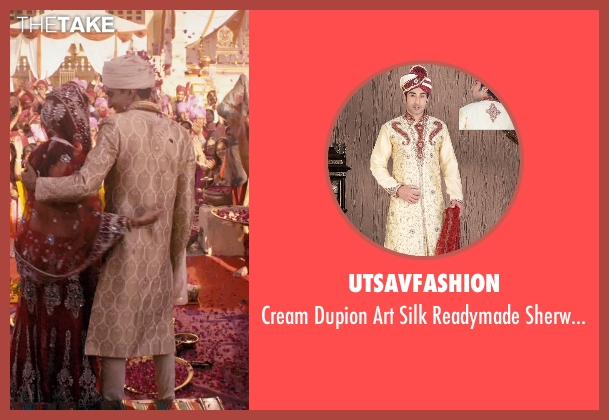 Utsavfashion sherwani from The Second Best Exotic Marigold Hotel seen with Dev Patel (Sonny Kapoor)