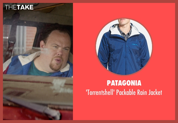 Patagonia blue jacket from Masterminds seen with Devin Ratray (Runny)