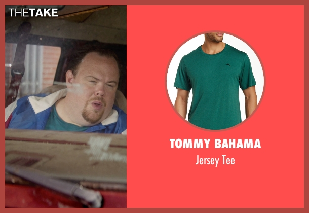 Tommy Bahama green tee from Masterminds seen with Devin Ratray (Runny)