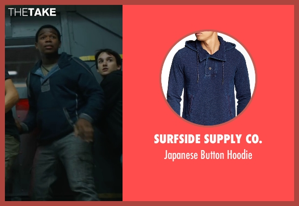 Surfside Supply Co. blue hoodie from Maze Runner: The Scorch Trials seen with Dexter Darden (Frypan)
