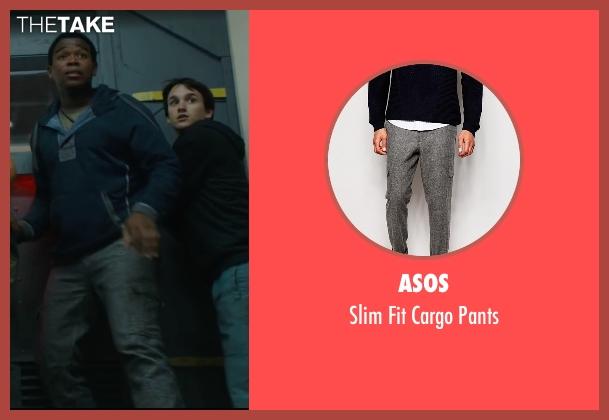 Asos gray pants from Maze Runner: The Scorch Trials seen with Dexter Darden (Frypan)