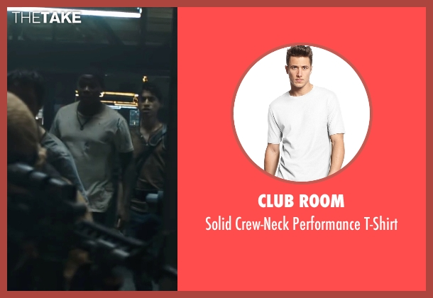 Club Room white t-shirt from Maze Runner: The Scorch Trials seen with Dexter Darden (Frypan)