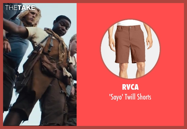 RVCA brown shorts from The Maze Runner seen with Dexter Darden (Fry Pan)