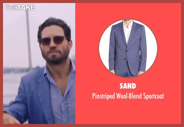 Sand blue sportcoat from Gold seen with Édgar Ramírez (Michael Acosta)