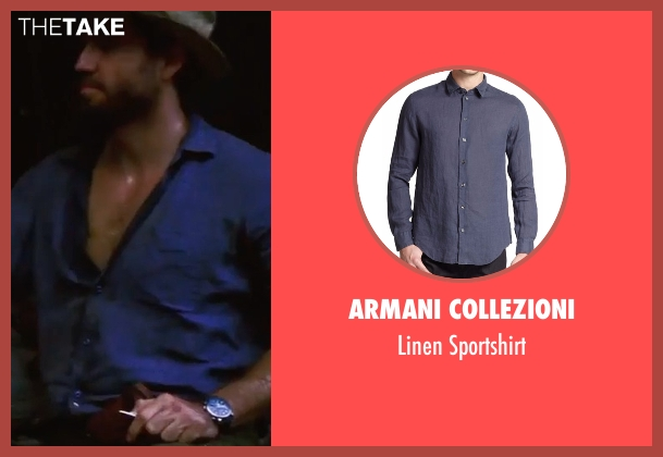 Armani Collezioni  blue sportshirt from Gold seen with Édgar Ramírez (Michael Acosta)
