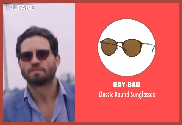 Ray-Ban brown sunglasses from Gold seen with Édgar Ramírez (Michael Acosta)