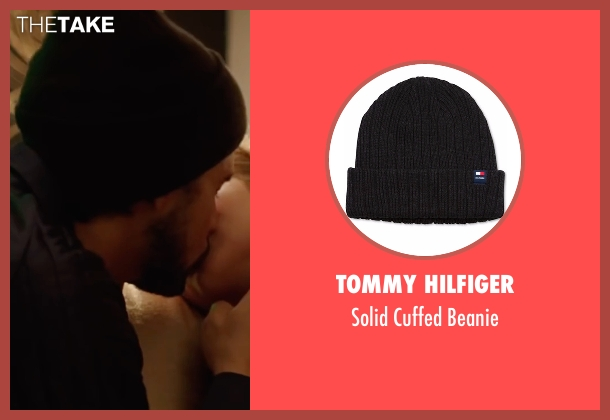 Tommy Hilfiger black beanie from Hands of Stone seen with Édgar Ramírez (Roberto Duran)