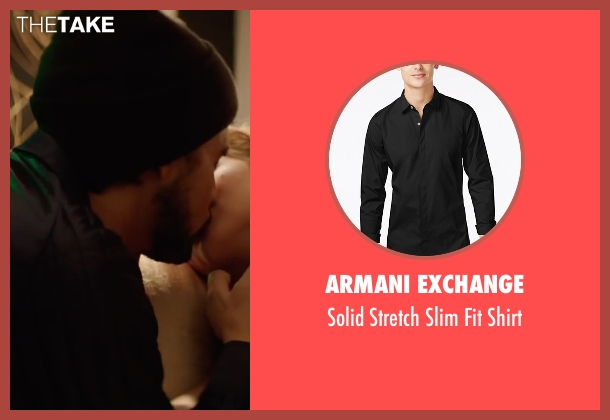 Armani Exchange black shirt from Hands of Stone seen with Édgar Ramírez (Roberto Duran)