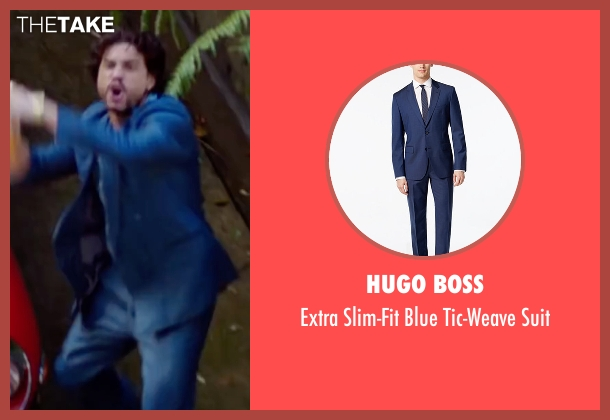 Hugo Boss blue suit from Hands of Stone seen with Édgar Ramírez (Roberto Duran)