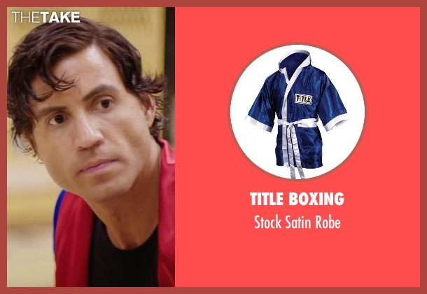Title Boxing robe from Hands of Stone seen with Édgar Ramírez (Roberto Duran)