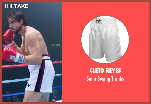 Cleto Reyes trunks from Hands of Stone seen with Édgar Ramírez (Roberto Duran)