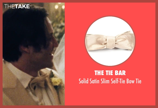 The Tie Bar beige tie from Joy seen with Édgar Ramírez (Tony Miranne)