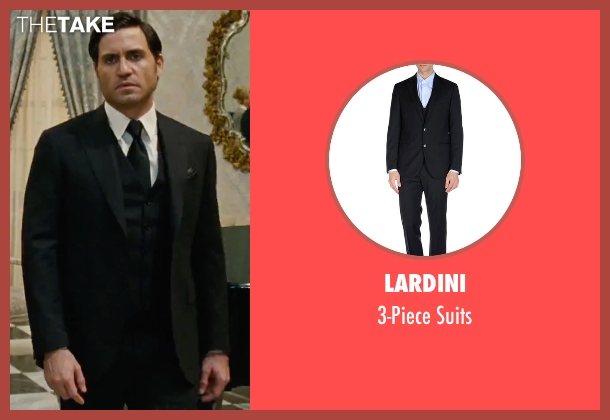 Lardini black suits from Joy seen with Édgar Ramírez (Tony Miranne)