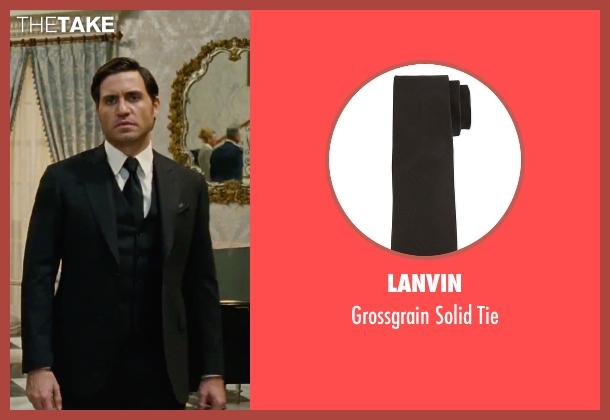 Lanvin black tie from Joy seen with Édgar Ramírez (Tony Miranne)