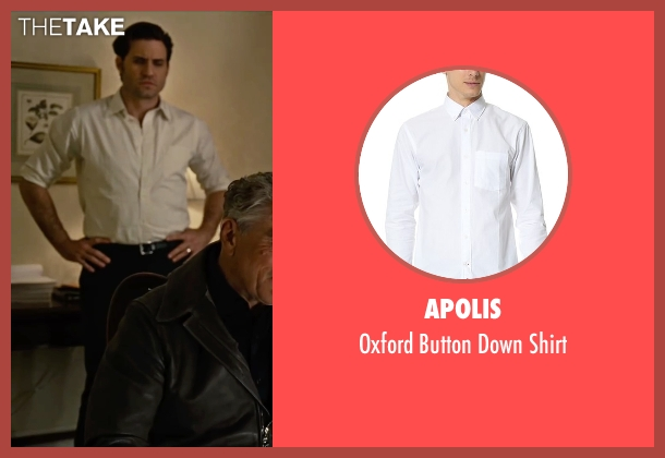 Apolis white shirt from Joy seen with Édgar Ramírez (Tony Miranne)