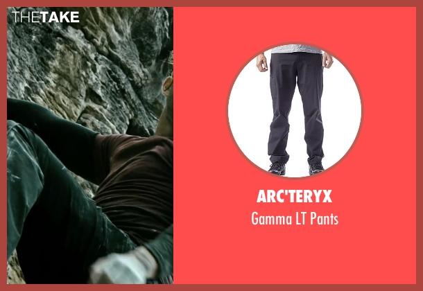 Arc'teryx black pants from Point Break seen with Édgar Ramírez (Bodhi)