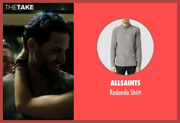 Allsaints gray shirt from Point Break seen with Édgar Ramírez (Bodhi)