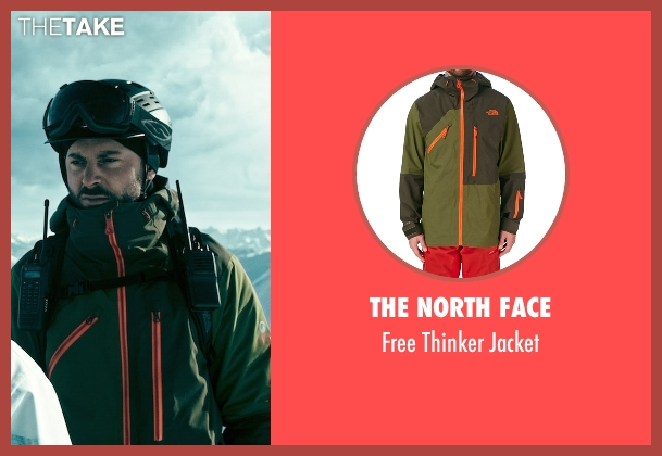 The North Face green jacket from Point Break seen with Édgar Ramírez (Bodhi)