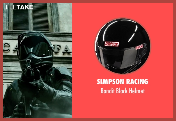 Simpson Racing helmet from Point Break seen with Édgar Ramírez (Bodhi)