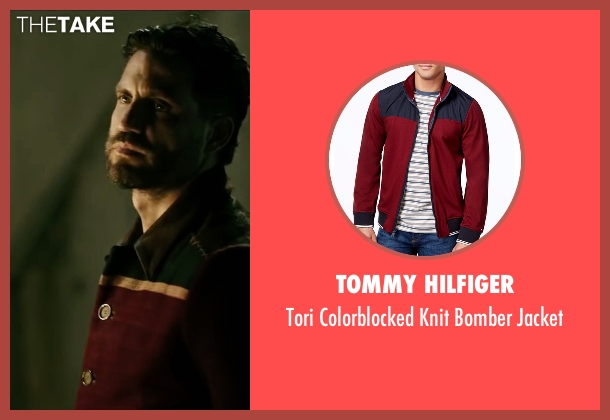 Tommy Hilfiger red jacket from Point Break seen with Édgar Ramírez (Bodhi)