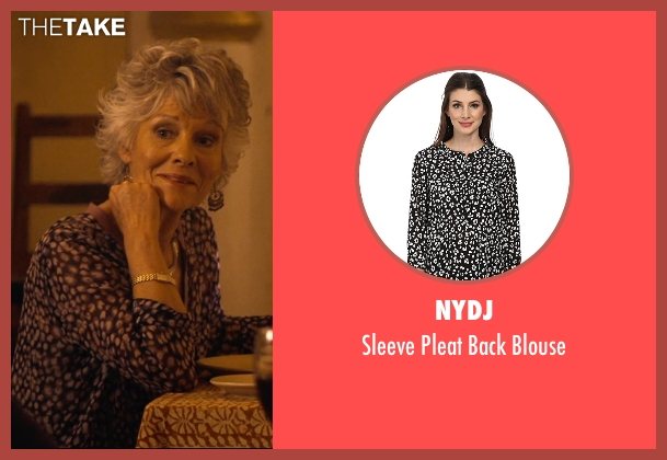 NYDJ black blouse from The Second Best Exotic Marigold Hotel seen with Diana Hardcastle (Carol Parr)