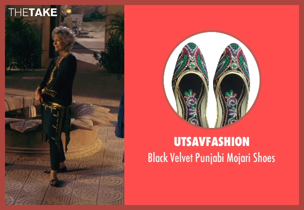 Utsavfashion black shoes from The Second Best Exotic Marigold Hotel seen with Diana Hardcastle (Carol Parr)