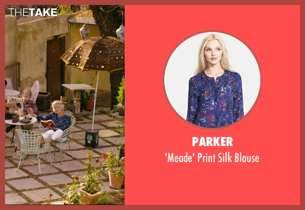 Parker blue blouse from The Second Best Exotic Marigold Hotel seen with Diana Hardcastle (Carol Parr)