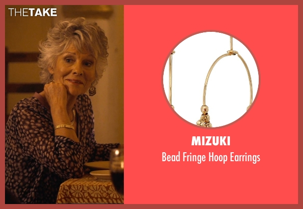 Mizuki gold earrings from The Second Best Exotic Marigold Hotel seen with Diana Hardcastle (Carol Parr)