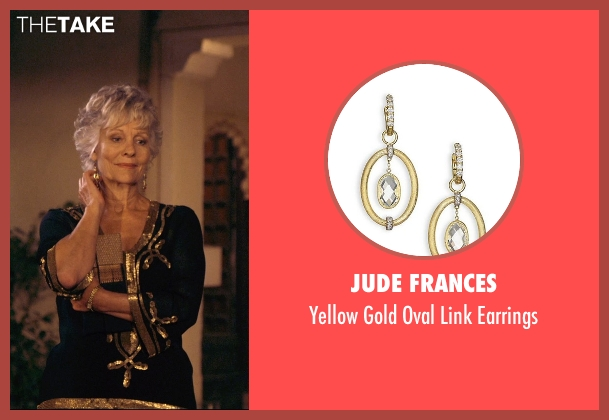 Jude Frances gold earrings from The Second Best Exotic Marigold Hotel seen with Diana Hardcastle (Carol Parr)