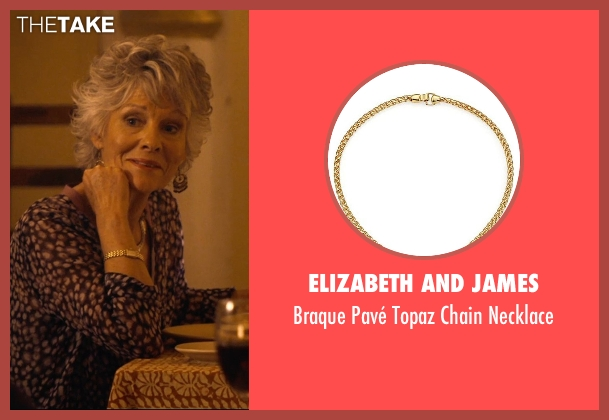 Elizabeth and James gold necklace from The Second Best Exotic Marigold Hotel seen with Diana Hardcastle (Carol Parr)