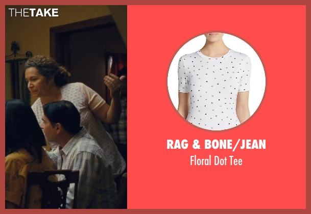 Rag & Bone/Jean white tee from McFarland, USA seen with Diana Maria Riva (Senora Diaz)