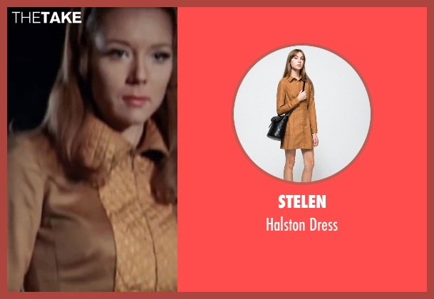 Stelen brown dress from On Her Majesty's Secret Service seen with Diana Rigg (Tracy)