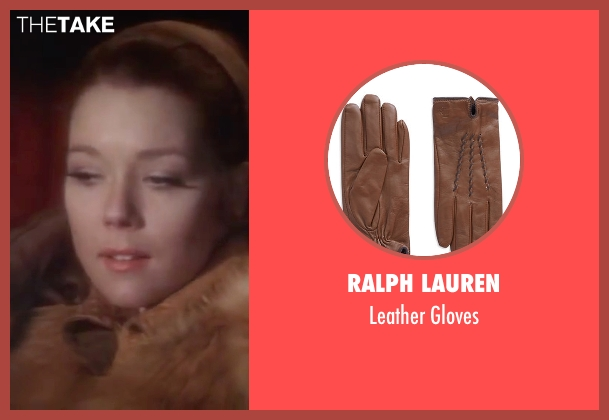 Ralph Lauren brown gloves from On Her Majesty's Secret Service seen with Diana Rigg (Tracy)