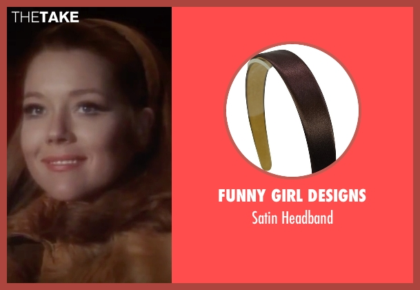 Funny Girl Designs brown headband from On Her Majesty's Secret Service seen with Diana Rigg (Tracy)