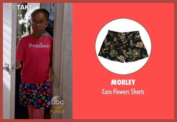 Morley black shorts from Black-ish seen with Diane Johnson (Marsai Martin)