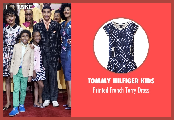 Tommy Hilfiger Kids blue dress from Black-ish seen with Diane Johnson (Marsai Martin)