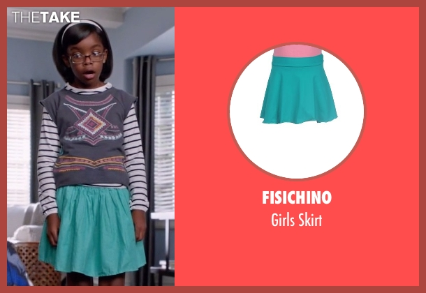 Fisichino blue skirt from Black-ish seen with Diane Johnson (Marsai Martin)